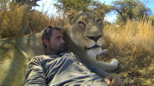 Conservationist and friend to lions.
